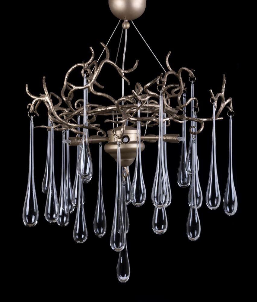 Люстра из стекла с подвесками «Gocce»